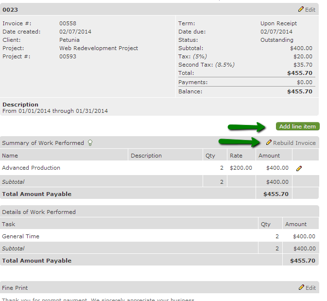 How Do I Create Invoices Intervals Help Documentation - Invoice for work performed
