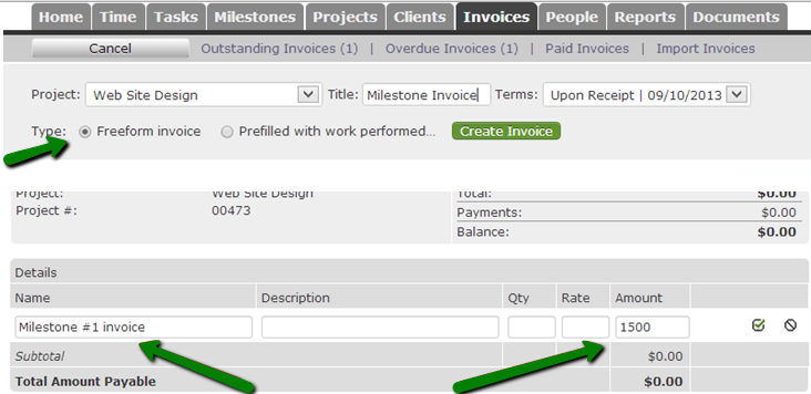 Create Freeform Invoice  How To Do Invoices