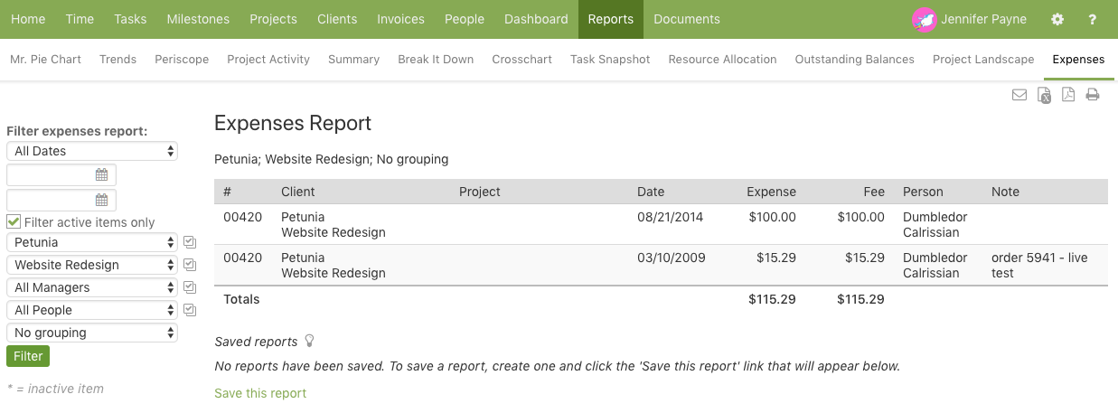 Online Expense Reporting | Intervals Help Documentation