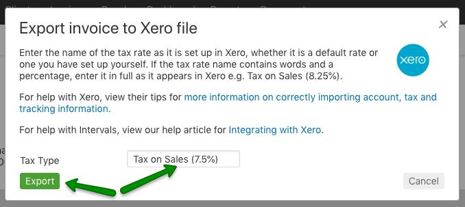 Xero Integration | Import Invoices into Xero | Intervals Help